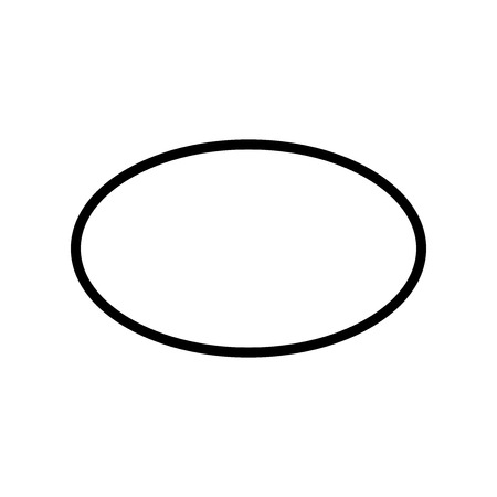 Ellipse icon vector isolated on white background, Ellipse transparent sign , line or linear design elements in outline style