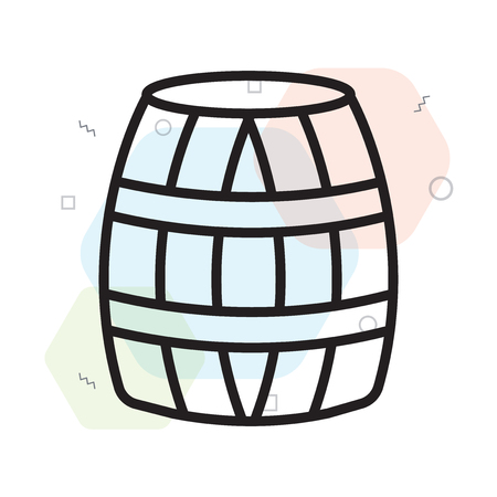 Barrel icon vector isolated on white background for your web and mobile app design, Barrel logo concept