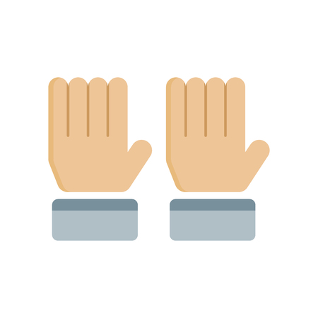 Hand pictogram vector geïsoleerd op een witte achtergrond voor uw web en mobiele app design, hand logo concept opstaan