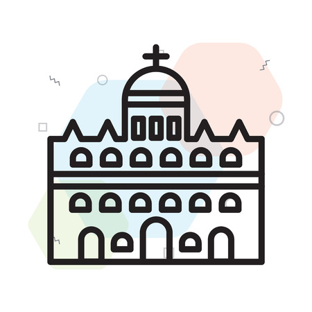 Vatican city icon vector isolated on white background for your web and mobile app design, Vatican city logo concept 矢量图像