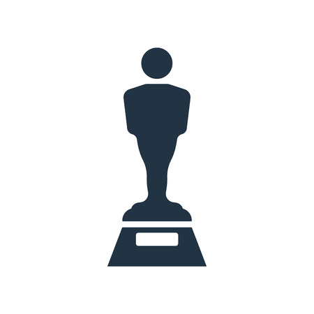 Oscar icon vector isolated on white background, Oscar transparent sign