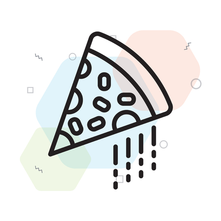 Pizza icon vector isolated on white background for your web and mobile app design, Pizza logo concept 向量圖像
