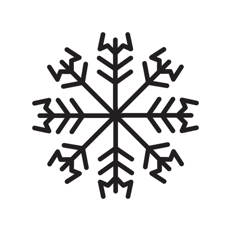 Snowflake icon vector isolated on white background, Snowflake transparent sign Illustration