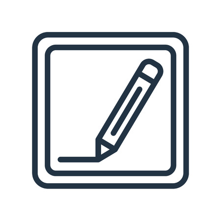 Pen icon vector isolated on white background, Pen transparent sign Vektorové ilustrace