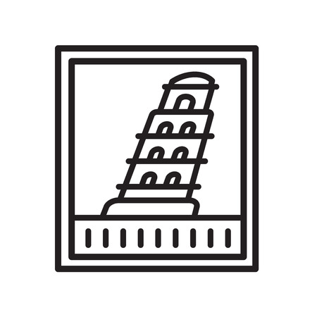 Pisa tower icon vector isolated on white background for your web and mobile app design, Pisa tower logo concept Illustration
