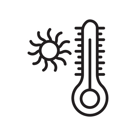 Temperature icon vector isolated on white background, Temperature transparent sign Illustration
