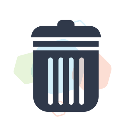 Dust bin icon vector isolated on white background for your web and mobile app design, Dust bin logo concept Illustration