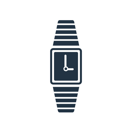 Watch icon vector isolated on white background, Watch transparent sign Illustration