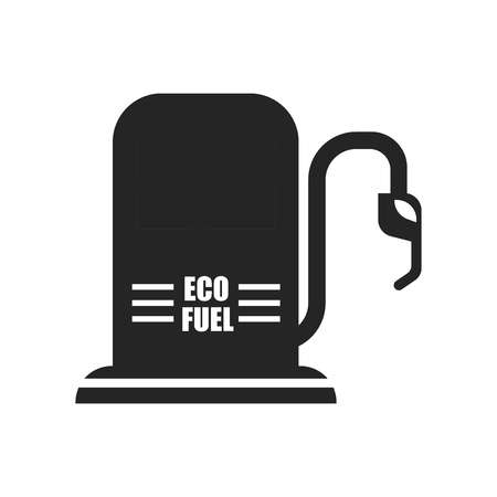 Eco fuel icon vector isolated on white background for your web and mobile app design, Eco fuel logo concept