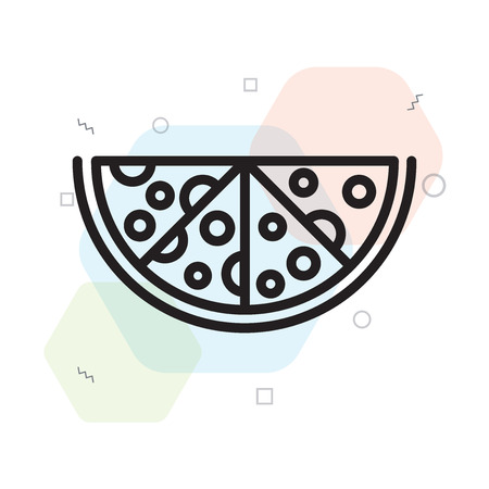 Pizza icon vector isolated on white background for your web and mobile app design, Pizza logo concept Çizim