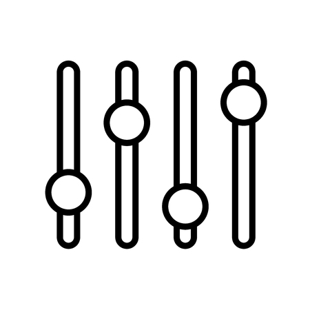 Levels icon vector isolated on white background, Levels transparent sign , line or linear design elements in outline style