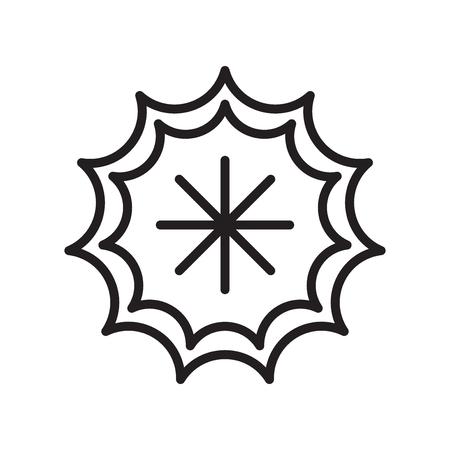 Vector icono frío aislado sobre fondo blanco, signo transparente frío