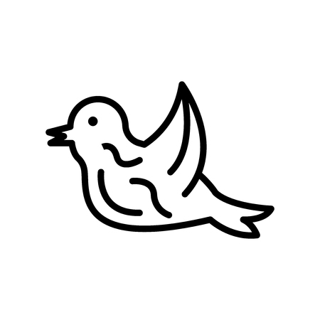 Bird icon vector isolated on white background, Bird transparent sign , line or linear design elements in outline style Stock Illustratie