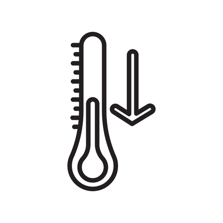 Thermometer icon vector isolated on white background, Thermometer transparent sign Illustration
