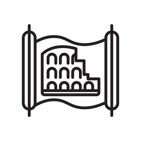Colosseum icon vector isolated on white background for your web and mobile app design, Colosseum logo concept