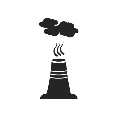 Pollution icon vector isolated on white background for your web and mobile app design, Pollution logo concept Ilustração