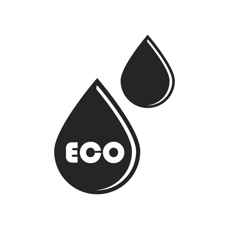 Eco drops icon vector isolated on white background for your web and mobile app design, Eco drops logo concept