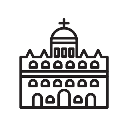 Vatican city icon vector isolated on white background for your web and mobile app design, Vatican city logo concept 免版税图像 - 106757084