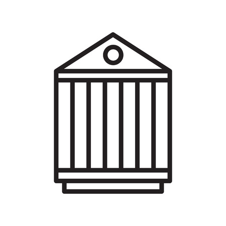 Pantheon icon vector isolated on white background for your web and mobile app design, Pantheon logo concept