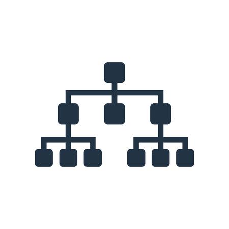 Vecteur d'icône de structure hiérarchique isolé sur fond blanc, signe transparent de structure hiérarchique