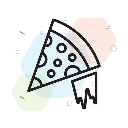 Pizza icon vector isolated on white background for your web and mobile app design, Pizza logo concept