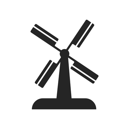 Wind mill icon vector isolated on white background for your web and mobile app design, Wind mill logo concept
