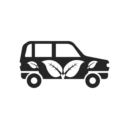 Eco Car icon vector isolated on white background for your web and mobile app design, Eco Car logo concept