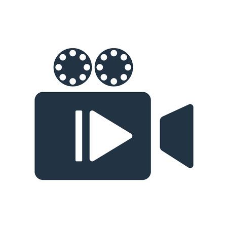 Icona del lettore video vettoriale isolato su sfondo bianco, segno trasparente del lettore video