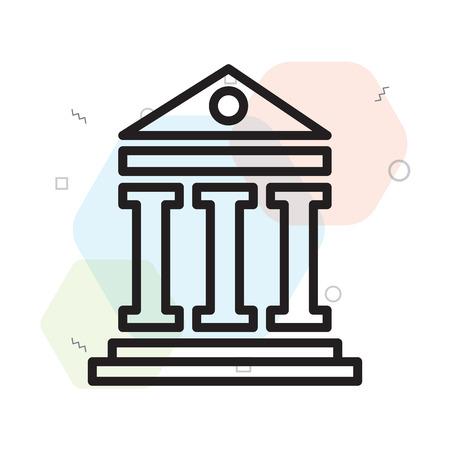 웹 및 모바일 앱 디자인, 판테온 로고 개념에 대 한 흰색 배경에 고립 된 판테온 아이콘 벡터