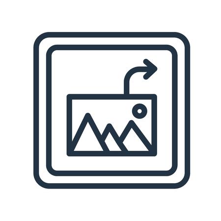 Insérer un vecteur d'icône image isolé sur fond blanc, insérer un signe transparent d'image Vecteurs
