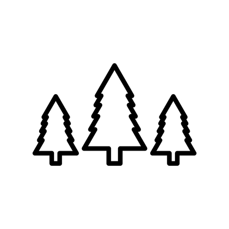 Trees icon vector isolated on white background, Trees transparent sign , line or linear design elements in outline style