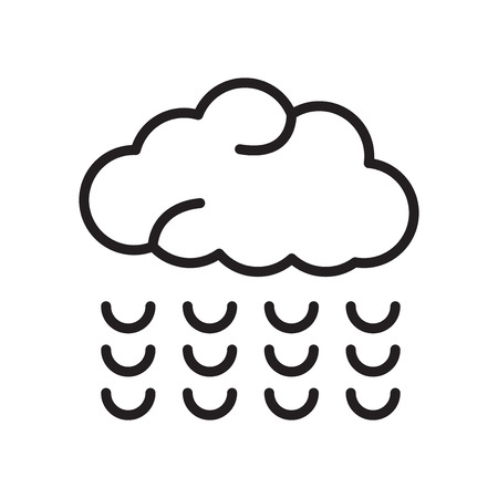 Cloud icon vector isolated on white background, Cloud transparent sign Illustration