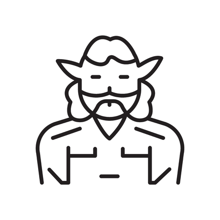 Satyr icon vector isolated on white background for your web and mobile app design, Satyr logo concept