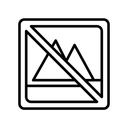 Aucun vecteur d'icône de blanchiment isolé sur fond blanc pour la conception de votre application web et mobile, aucun concept de logo de blanchiment