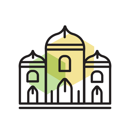 Palace icon vector isolated on white background for your web and mobile app design, Palace logo concept Banco de Imagens - 106849005