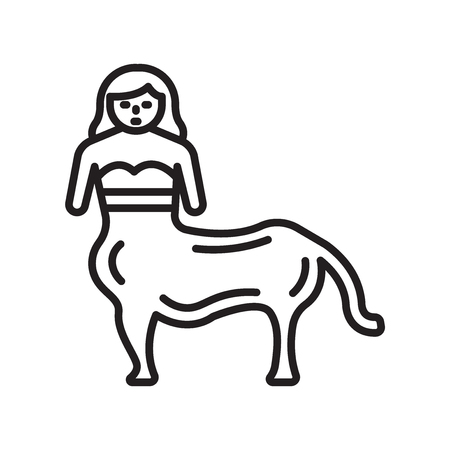 Centaur icon vector isolated on white background for your web and mobile app design, Centaur logo concept