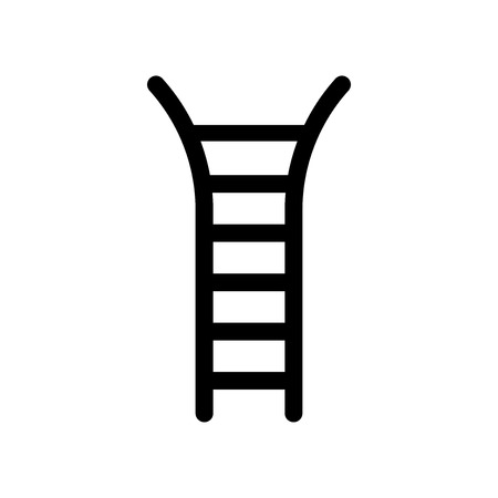 Hanging ladder icon vector isolated on white background for your web and mobile app design, Hanging ladder logo concept  イラスト・ベクター素材