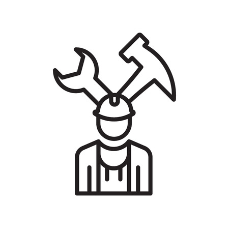 Mechanic icon vector isolated on white background for your web and mobile app design, Mechanic logo concept Standard-Bild - 106849343