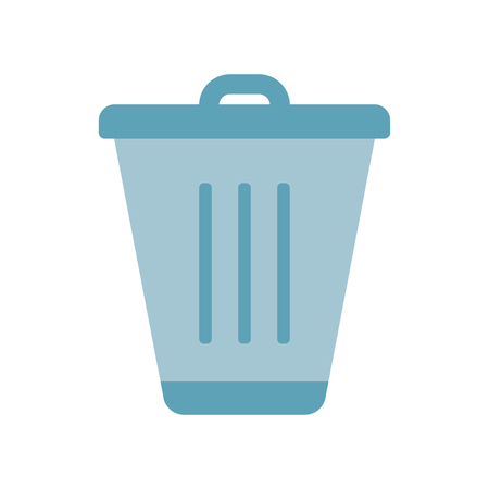 Trash icon vector isolated on white background for your web and mobile app design, Trash logo concept Illustration