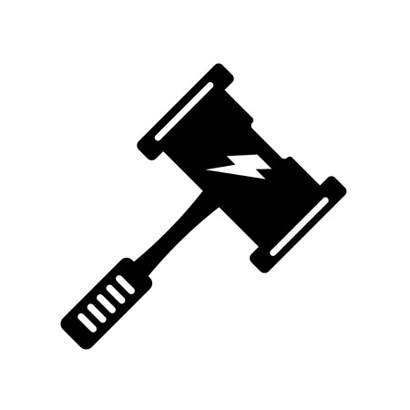 Thor hammer icon vector isolated on white background for your web and mobile app design, Thor hammer logo concept