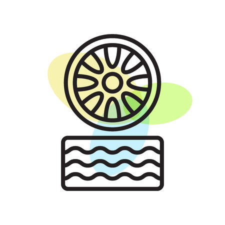 Tire icon vector isolated on white background for your web and mobile app design, Tire logo concept