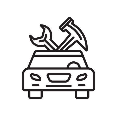 Car repair icon vector isolated on white background for your web and mobile app design, Car repair logo concept Stock Illustratie