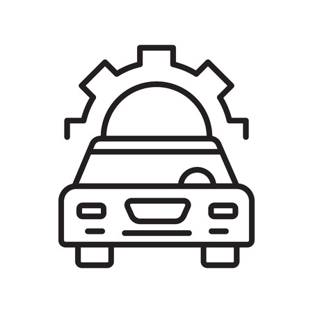 Car repair icon vector isolated on white background for your web and mobile app design, Car repair logo concept Stockfoto - 106853547