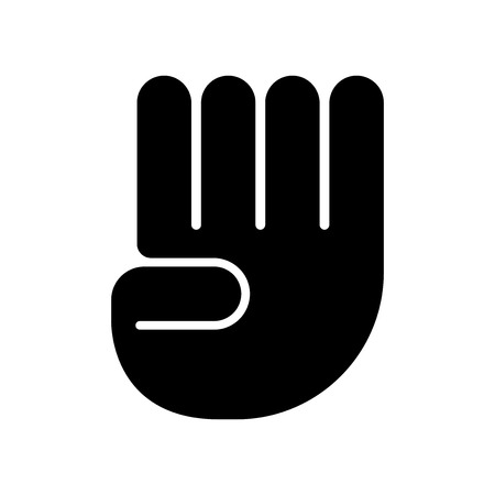 Four finger in hand icon vector isolated on white background for your web and mobile app design, Four finger in hand logo concept Illustration