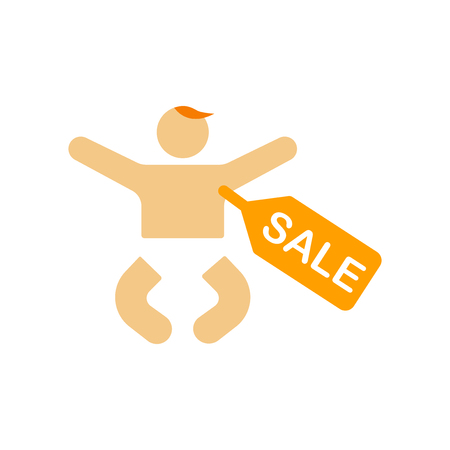 Baby selling icon vector isolated on white background for your web and mobile app design