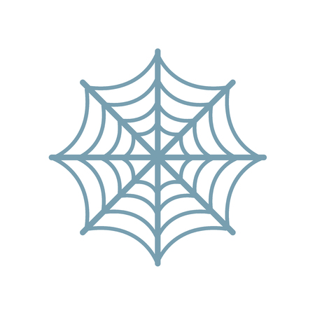 Spider web icon vector isolated on white background for your web and mobile app design, Spider web logo concept Ilustração
