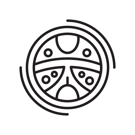 Steering icon vector isolated on white background for your web and mobile app design, Steering logo concept Illustration