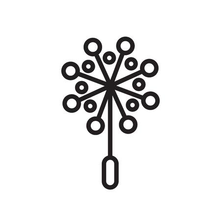 Icona di polline vettoriale isolato su sfondo bianco per il vostro web e progettazione di app per dispositivi mobili, concetto di marchio di polline