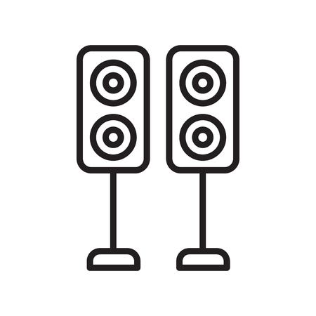 Speakers icon vector isolated on white background for your web and mobile app design, Speakers logo concept