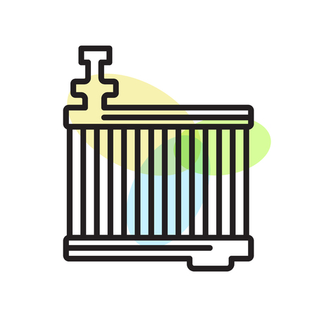 Radiator icon vector isolated on white background for your web and mobile app design, Radiator logo concept Illustration